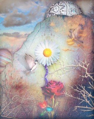Image Rêve, vallée, coloré, fleurs, série