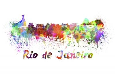 Image Rio de Janeiro horizon à l'aquarelle