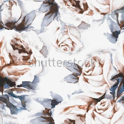 Image Roses Seamless Pattern. Illustration d'aquarelles.