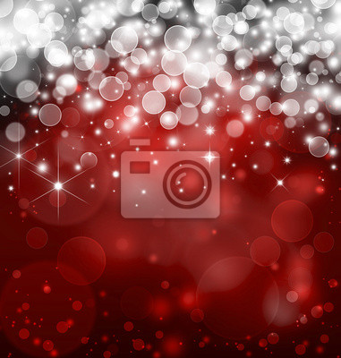 rouge bokeh fond clair avec des étoiles