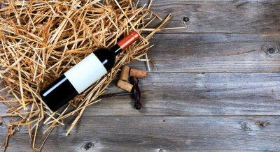 Image Rouge, vin, bouteille, vendange, vin, tire-bouchon, paille