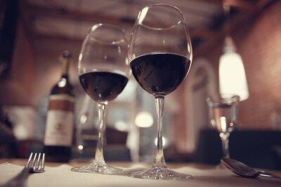 Image Rouge, vin, restaurant, intérieur