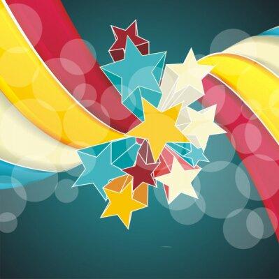 Image Rubans et des étoiles isolées sur fond blanc.