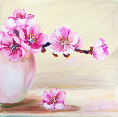 Image Sakura fleurs dans le vase