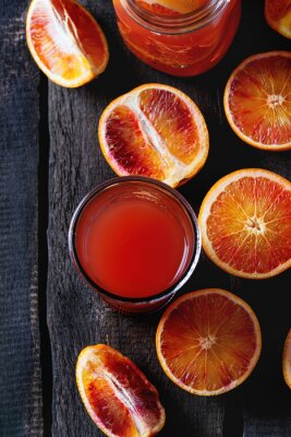 Image Sang, oranges, jus