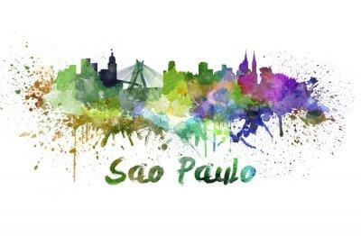 Image Sao Paulo horizon à l'aquarelle