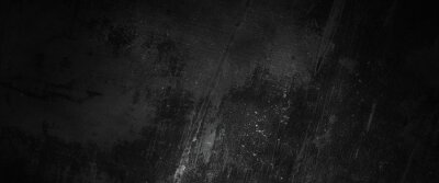 Image Scary dark walls, slightly light black concrete cement texture for background