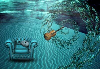 Image Scène surréaliste sous-marine