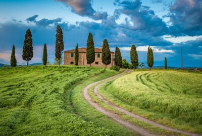 Image Scenic view of typical Tuscany landscape, Italy