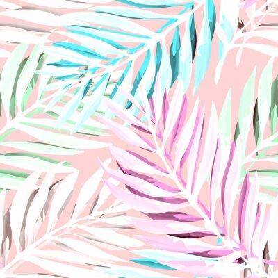 Image Schéma tropical des feuilles de palmier. Design imprimé à la mode avec le feuillage de la jungle abstraite. Fond exotique sans soudure. Illustration vectorielle