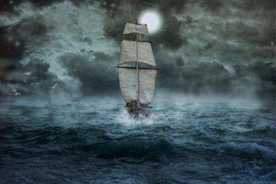 Image Schiff, Meer, Ozean, Blau, Wolken, Wasser, Segel, Sturm