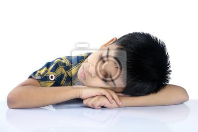 School boy dormir sur le bureau peintures murales u tableaux