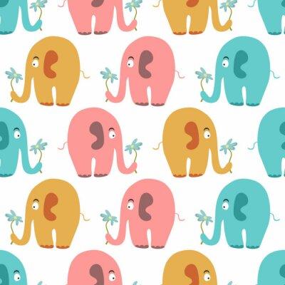 Image Seamless avec des animaux mignons colorés
