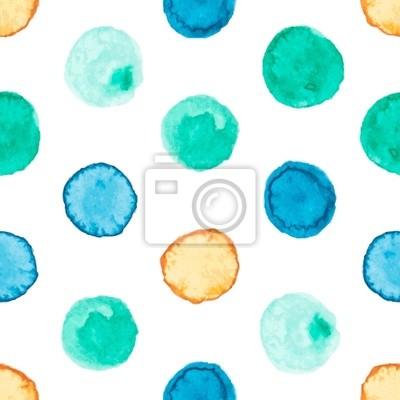 Seamless avec des cercles d'aquarelle