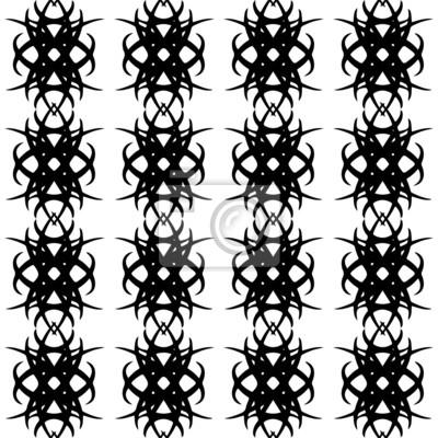 Seamless avec la silhouette noire des formes abstraites sur un petit morceau