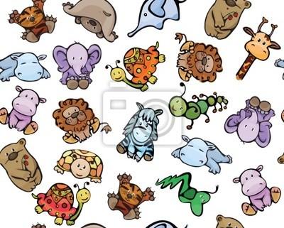 Seamless des animaux mignons de bébé
