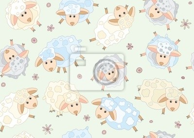 Seamless des moutons mignons