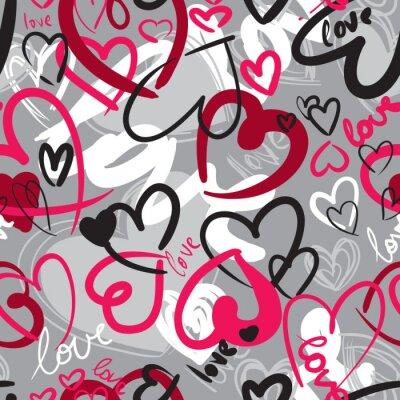 Image Seamless mignon de valentine avec des coeurs