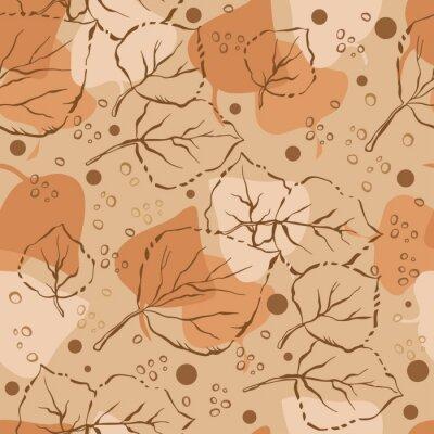 Seamless, modèle, automne, feuilles