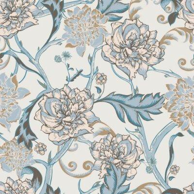 Image Seamless, modèle, fleurir, pivoine