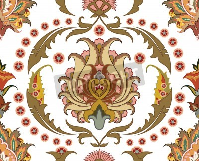 Image seamless ornament with east design