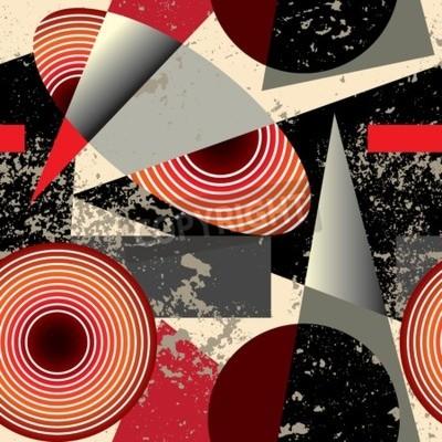 Image Seamless pattern.Abstract modèle dans le style cubiste