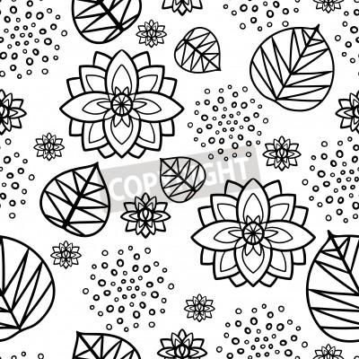 Image Seamless Pattern Avec Des Fleurs De Lys Deau Et Les Feuilles