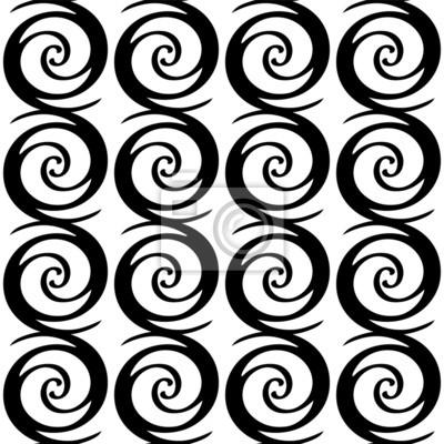 Seamless pattern simple avec des formes géométriques en noir et blanc