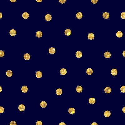 Image Seamless polka dot motif doré.