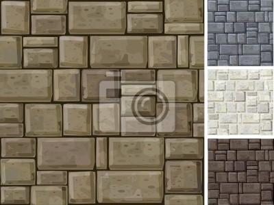 Seamless texture de Stonewall en différentes couleurs