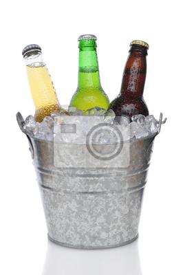 Seau à bière avec trois bières