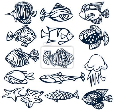 Set de poissons.