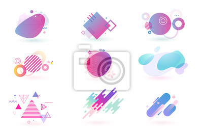 Image Set of abstract graphic design elements. Vector illustrations for logo design, website development, flyer and presentation, background, cover design, isolated on white.