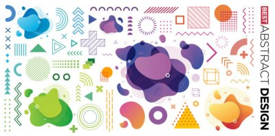 Image Set of Abstract Modern Graphic Elements