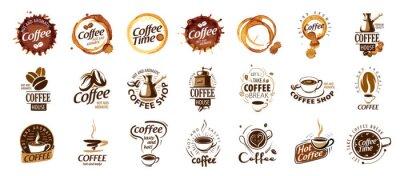 Image Set of coffee logos. Vector illustration on white background