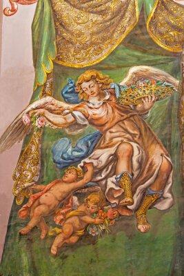 Image Séville - fresque de l'ange avec les roses