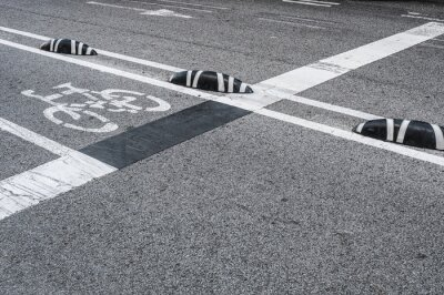 Image Signalisation de voie cyclable dans la ville