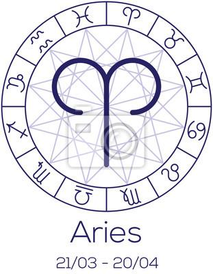 Signe du zodiaque - Bélier.