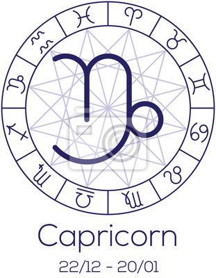 Signe du zodiaque - Capricorne.