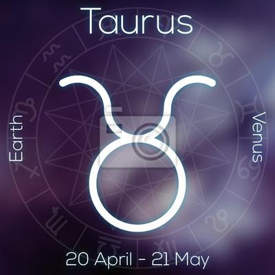 Signe du zodiaque - Taureau.