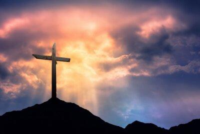 Image Silhouette de la Croix à Sunrise