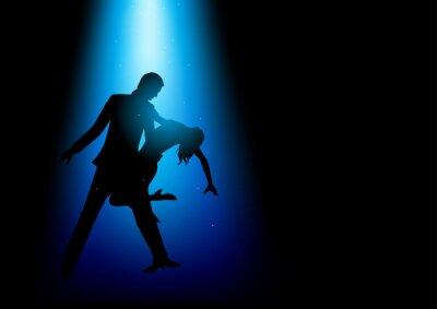 Image Silhouette, Illustration, couple, danse