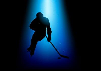 Image Silhouette, Illustration, hockey, joueur