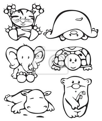 Silhouettes des animaux .