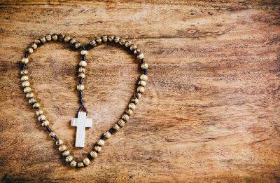 Image Simple Croix intérieur Coeur - Rustique