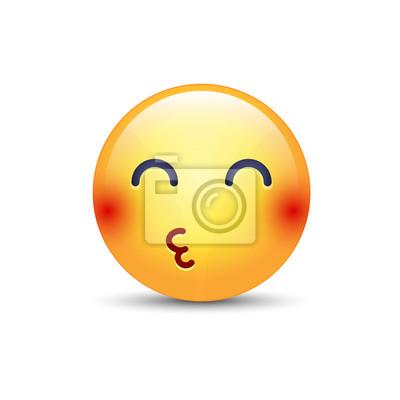 Smiley Envoie Un Bisou A Lair Avec Les Yeux Fermes Emoticon