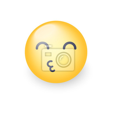 Smiley Envoie Un Bisou à Lair Avec Les Yeux Fermés Emoticon