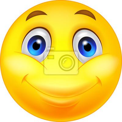 Smiley Heureux Dessin Anime Peintures Murales Tableaux Ok Satisfaction Rire Myloview Fr