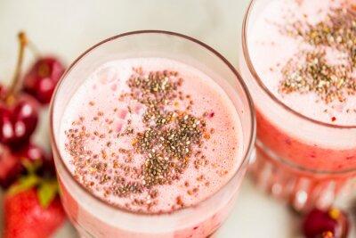 Smoothie fraise aux graines de chia