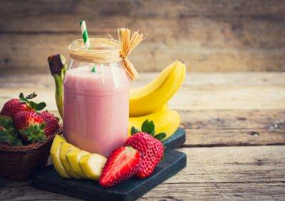 Image Smoothie fraise fraîche et banane